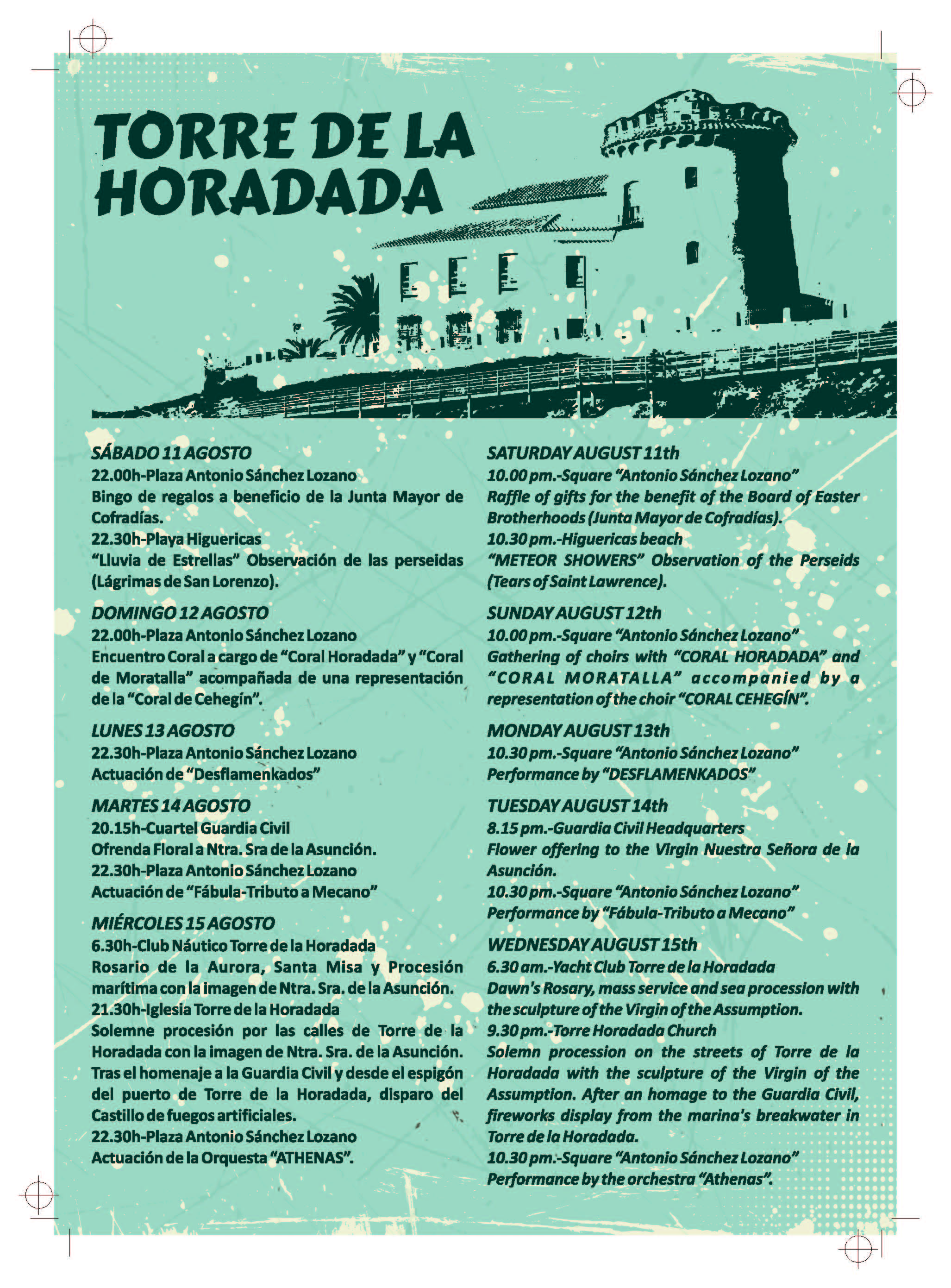 PROGRAMA DE FIESTAS TORRE DE LA HORADADA 2018 - Pilar Horadada